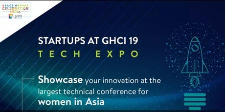Apply for TechExpo for Startups at GHCI site tickets