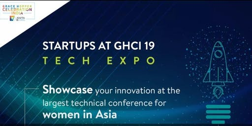 Apply for TechExpo for Startups at GHCI site