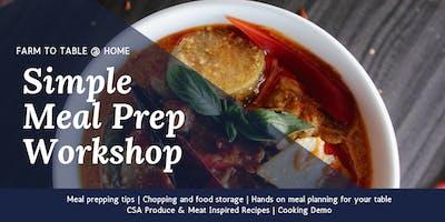 CSA Simple Meal Prep Workshop