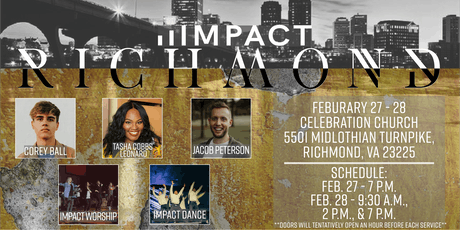 Impact Richmond ft. Tasha Cobbs Leonard, Jacob Peterson, & More! tickets