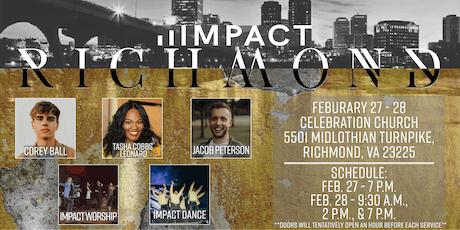 Impact Richmond ft. Tasha Cobbs Leonard, Jacob Peterson, & More! tickets