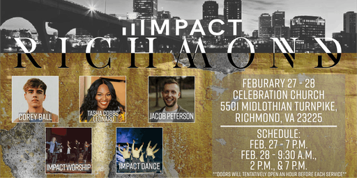 Impact Richmond ft. Tasha Cobbs Leonard, Jacob Peterson, & More!