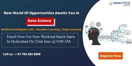 Sign Up For New Weekend Batch On Data Science Training & Shape Your Data Science Career Dream To Reality-By Analytics Path Commencing From 22nd June @ 9:00 AM, Hyderabad. tickets