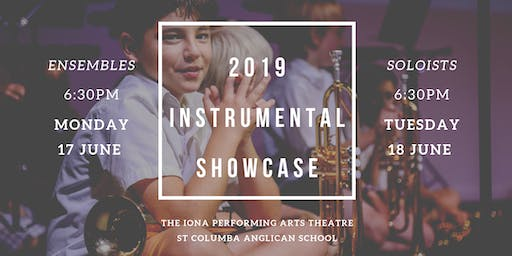 Instrumental Showcase 2019 - Monday 17 June and Tuesday 18 June