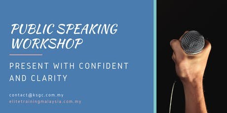 Public Speaking Training: Present with Confident & Clarity tickets