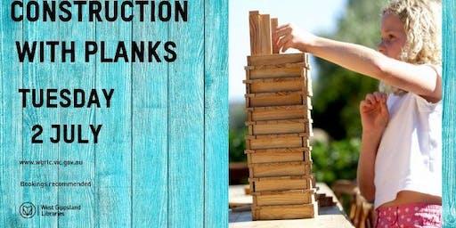 School holiday activity -  Constructing with Planks @ Korumburra Library 2pm