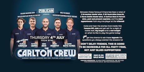 The Carlton Crew LIVE at Publican Mornington! tickets