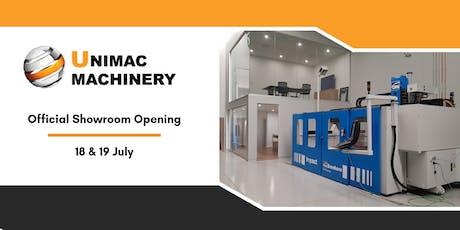 Unimac Machinery Showroom Opening tickets