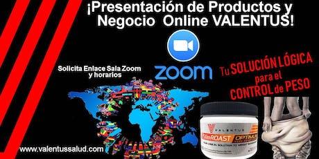 Presentación Negocio Online VALENTUS  tickets