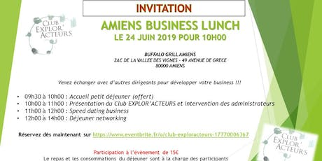 BUSINESS LUNCH CLUB EXPLOR'ACTEURS billets