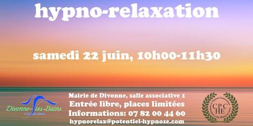 Hypno-relaxation le samedi 22 juin à Divonne, 01220