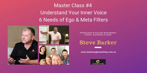 Understand Your Thoughts - Needs of the Ego & the Filters you use