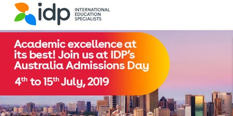Academic Excellence at its best! Join us at IDP's Australia Admission Day in Bangalore tickets
