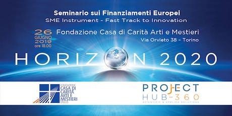 Finanziamenti per l'innovazione di PMI biglietti
