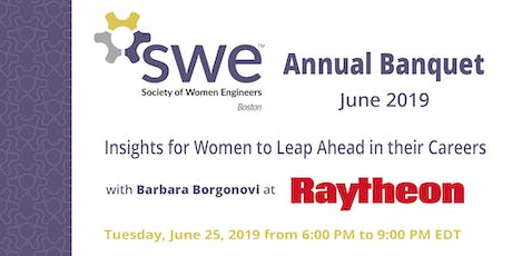 """SWE Boston Annual Banquet: """"Insights for Women to Leap Ahead in their Careers"""" with Barbara Borgonovi  tickets"""
