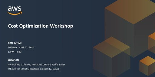 AWS Cost Optimization Workshop - June 27, 2019