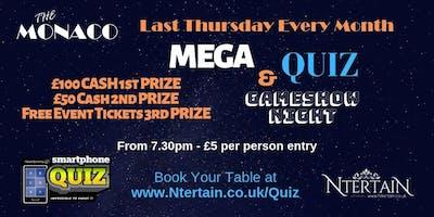 Mega Quiz & Gameshow Night