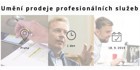 Umění prodeje profesionálních služeb - 18.9.2019 - Praha tickets