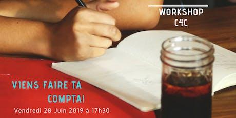 Workshop du 28 Juin chez C4C, Ecole des métiers de la Gestion billets