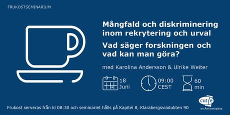Frukostseminarium - Mångfald och diskriminering (FULLBOKAT!) biljetter