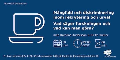 Frukostseminarium - Mångfald och diskriminering (FULLBOKAT!)