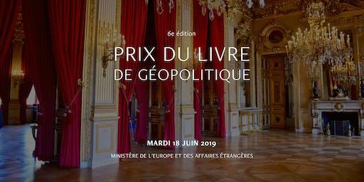 Prix du Livre de Géopolitique 2019