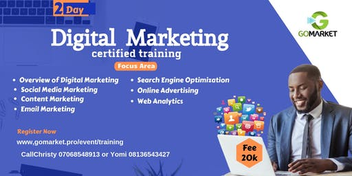 A 2 Day Intensive Training for Digital Marketing Certified Program