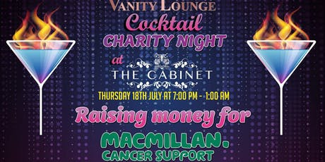 Vanity Lounge Cocktail Charity Night at The Cabinet  tickets