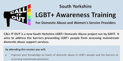 Call It Out: South Yorkshire LGBT+ Awareness Training for Domestic Abuse and Women\