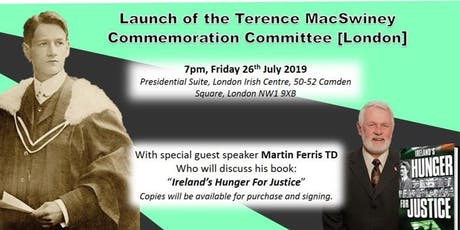 Terence MacSwiney Commemoration Committee Launch Event - with Martin Ferris tickets