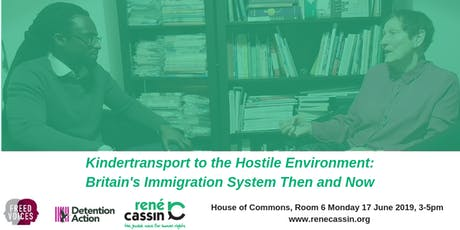 Kindertransport to the Hostile Environment: Britain's Immigration System Then and Now tickets