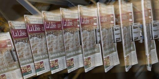 Visite de la rédaction et de l'imprimerie de La Libre Belgique