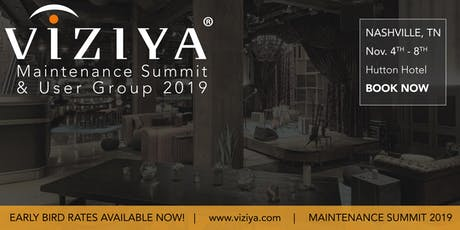 VIZIYA Maintenance Summit & User Group 2019 tickets