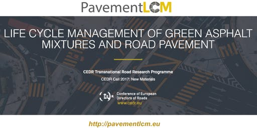 1st CEDR PAVEMENT LCM workshop - Sustainability Assessment of Road Pavement