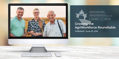 Growing the AgriWorkforce Roundtable (WEBINAR SERIES) tickets