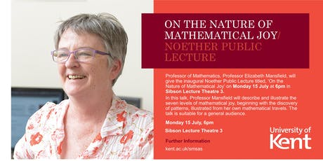 Noether Public Lecture: On the Nature of Mathematical Joy tickets