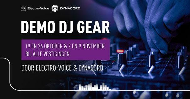 Demo DJ-gear gebruiken met Electro-Voice & Dynacord
