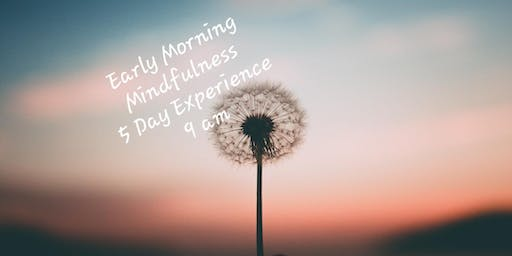 Mindfulness in the Morning  9.00 am