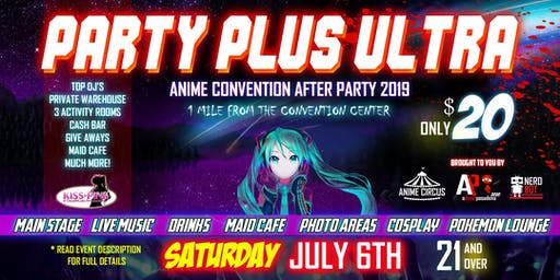 Party Plus Ultra Anime After Party