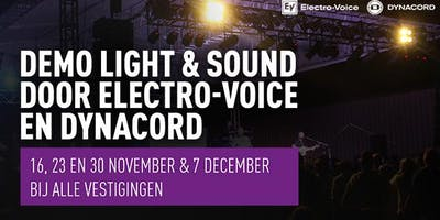 Demo Light & Sound met Electro-Voice & Dynacord