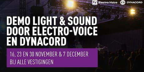 Demo Light & Sound met Electro-Voice & Dynacord  tickets