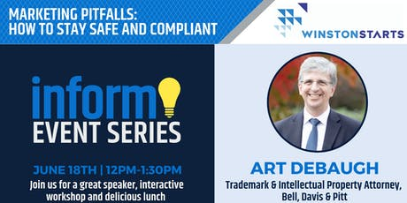INFORM: Marketing Pitfalls | How to Stay Safe and Compliant with Art DeBaugh tickets