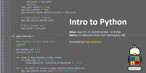 Introduction to Python Workshop