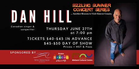 Sizzling Summer Series: Dan Hill tickets