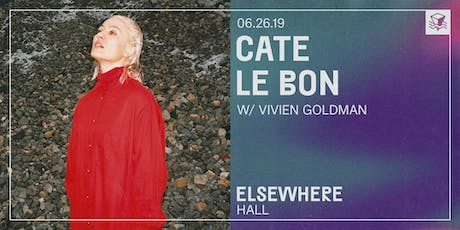 Cate Le Bon @ Elsewhere (Hall) tickets