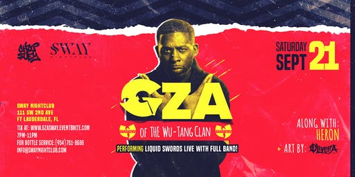 GZA of The Wu-Tang Clan // Liquid Swords Live