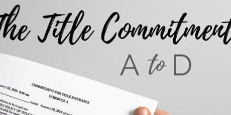 Title Commitment A-D - Coldwell Banker Rockwall tickets
