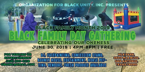 Black Family Day Gathering MLK Park
