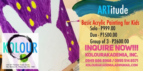 ARTitude (Basic Acrylic Painting for Kids: Saturday) tickets