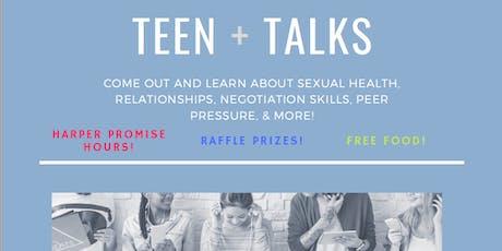 Teen Talks Series (Ages 13+) tickets